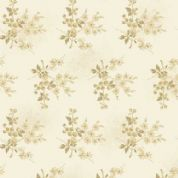 Makower UK - Something Blue - 6044 - Freshberries Floral in Beige & Cream - 8824_L - Cotton Fabric